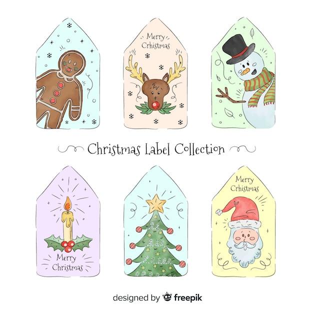 Weihnachts-label-sammlung Kostenlosen Vektoren