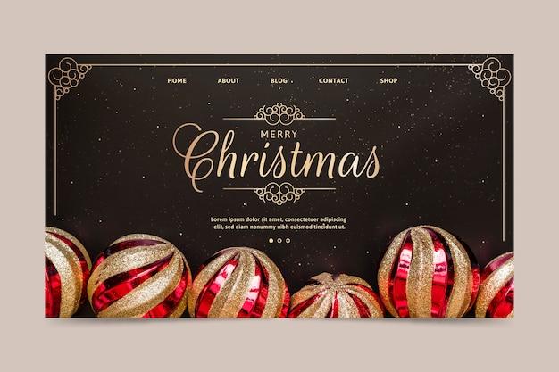 Weihnachts-landing-page-vorlage Kostenlosen Vektoren