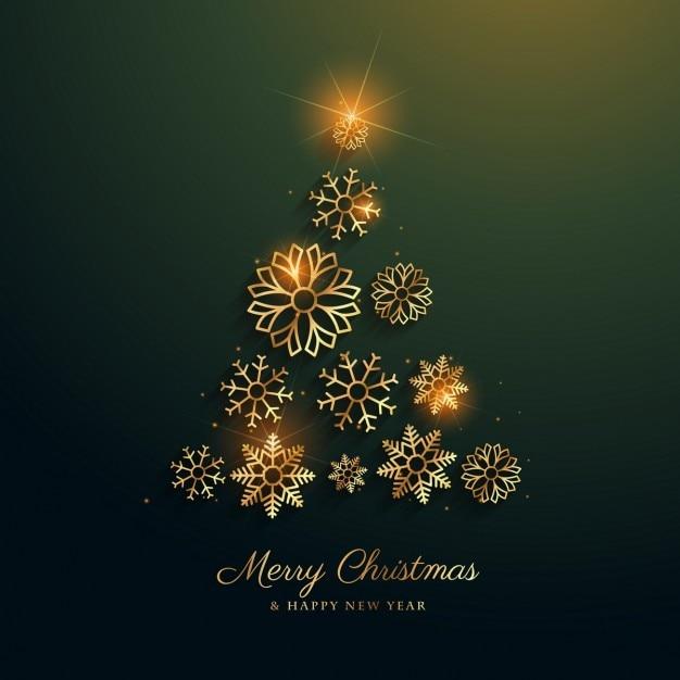 weihnachtsbaum design mit goldenen schneeflocken. Black Bedroom Furniture Sets. Home Design Ideas