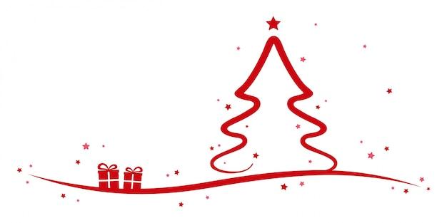 Sterne Für Weihnachtsbaum.Weihnachtsbaum Rot Sterne Und Präsentiert Weißen Hintergrund
