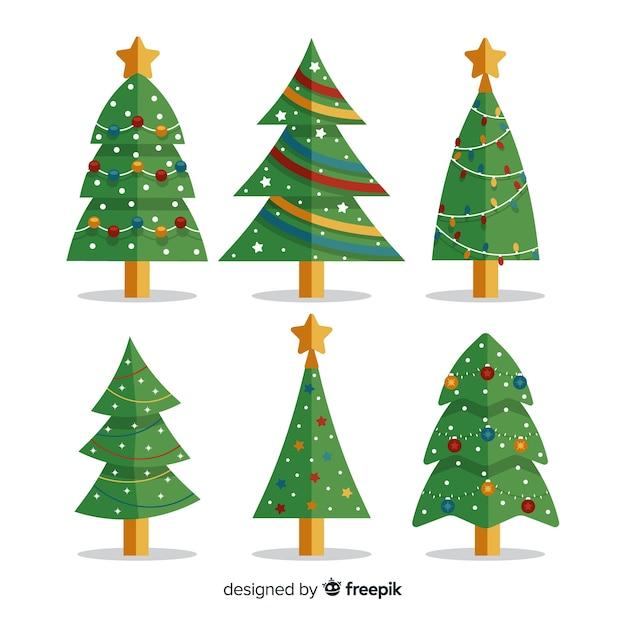Weihnachtsbaum-sammlung Kostenlosen Vektoren
