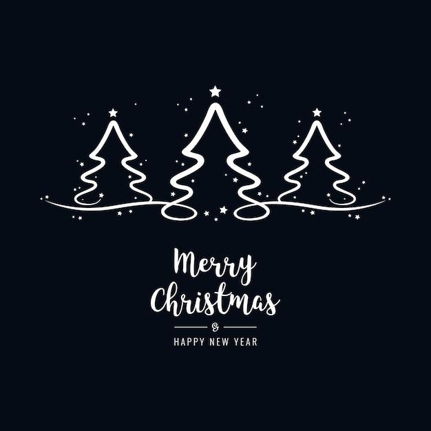 Weihnachtsbaum schriftzug gr e text schwarzer hintergrund download der premium vektor - Schwarzer weihnachtsbaum ...