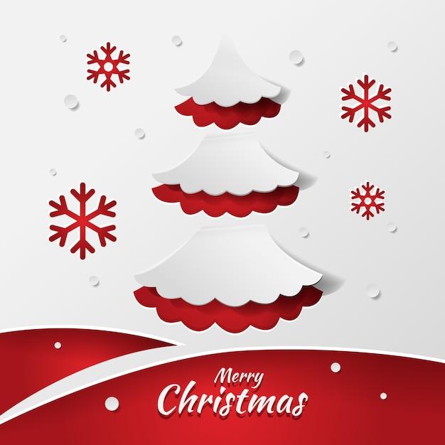 Weihnachtsbaumkonzept in der papierart Kostenlosen Vektoren