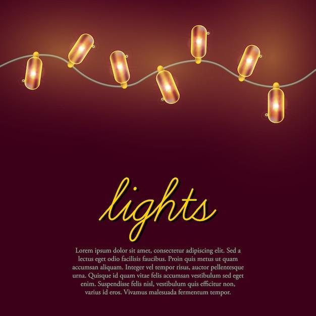 Weihnachtsbeleuchtung hintergrund. Kostenlosen Vektoren