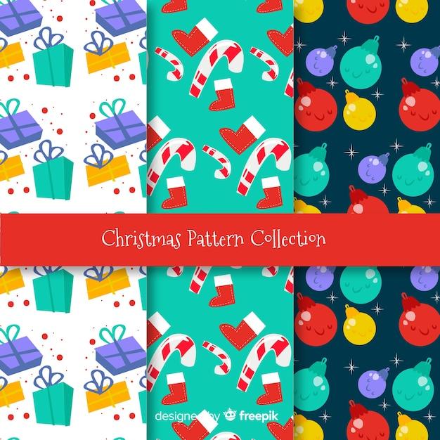 Weihnachtsbunte dekorationsmuster Kostenlosen Vektoren