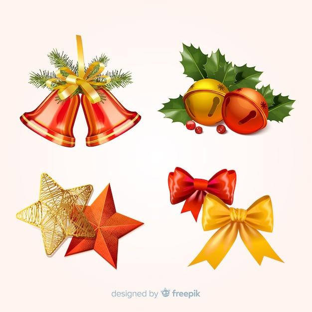 Weihnachtsdekoration eingestellt Kostenlosen Vektoren