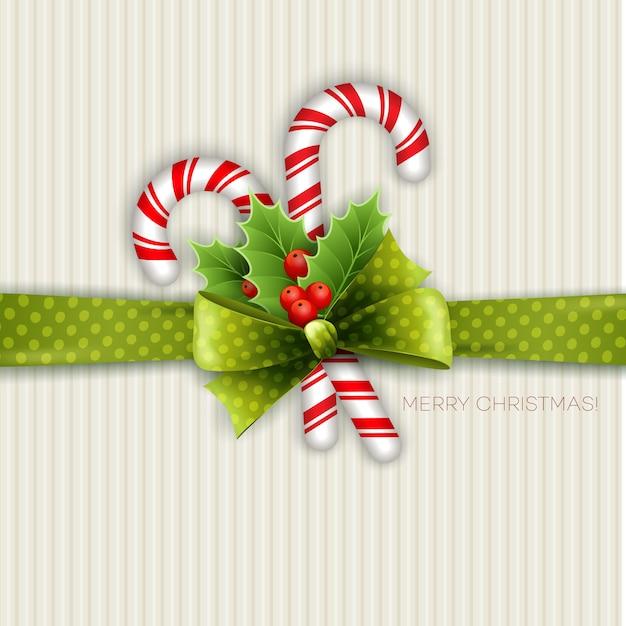 Weihnachtsdekoration mit stechpalmenblättern Premium Vektoren