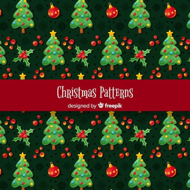 Weihnachtselemente muster Kostenlosen Vektoren