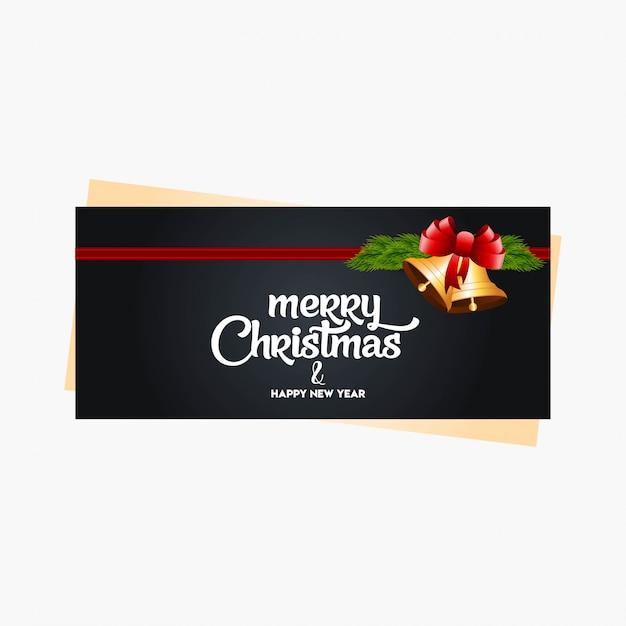Weihnachtsfahne mit eleganter dekoration Kostenlosen Vektoren