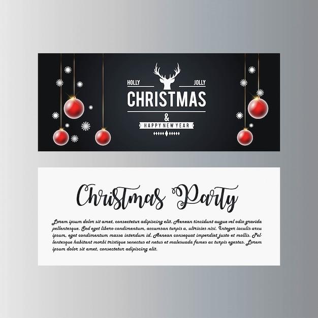 Weihnachtsfahne mit eleganter dekoration Premium Vektoren