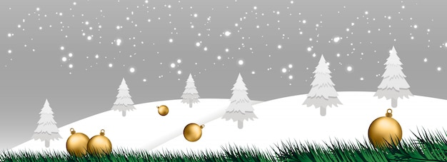 Weihnachtsfahnenvektorabbildung Premium Vektoren