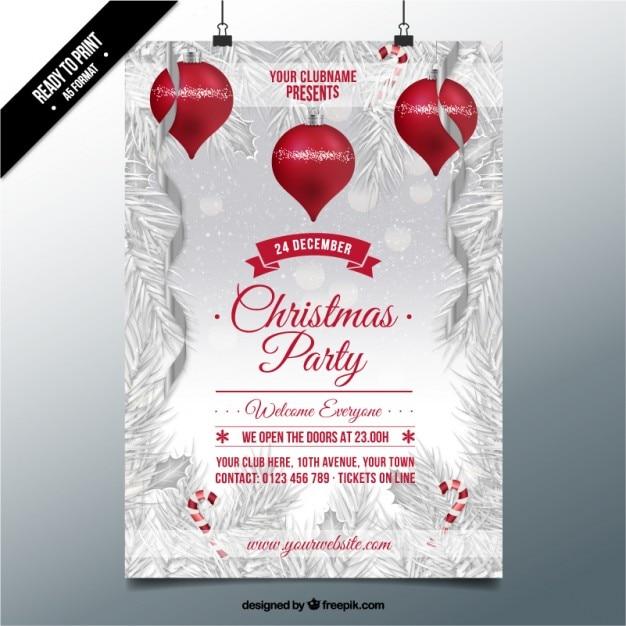 Weihnachtsfeier Plakat.Weihnachtsfeier Auf Einem Verschneiten Hintergrund Plakat Download