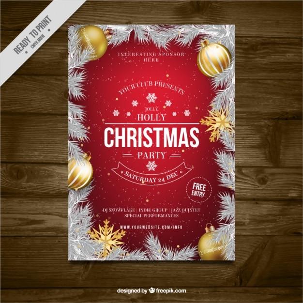 weihnachtsfeier brosch re mit tannenbl ttern und goldenen. Black Bedroom Furniture Sets. Home Design Ideas