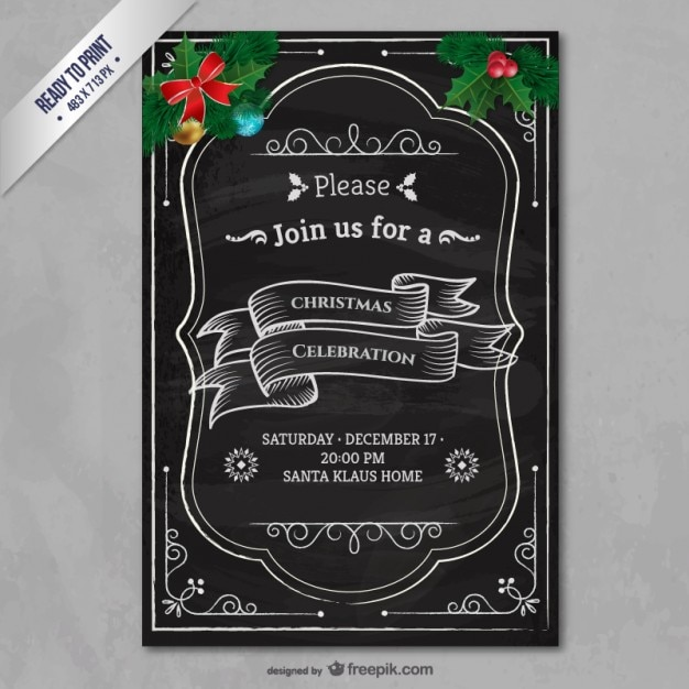 party invitation printable template free