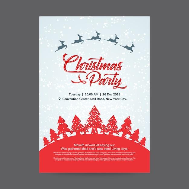 Weihnachtsfeier Plakat.Weihnachtsfeier Plakat Entwurfs Schablone Download Der Premium Vektor