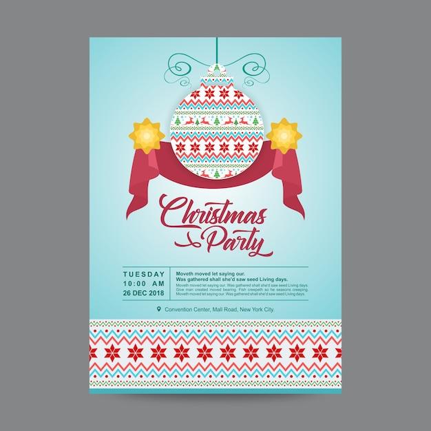 Weihnachtsfeier Plakat.Weihnachtsfeier Plakat Oder Flyer Design Vorlage Download Der
