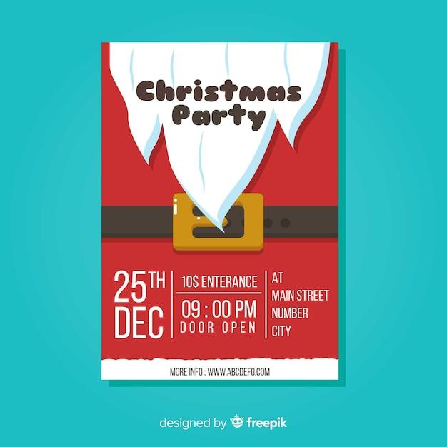 Weihnachtsfest flyer Kostenlosen Vektoren