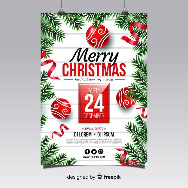 Weihnachtsfest-plakat Kostenlosen Vektoren