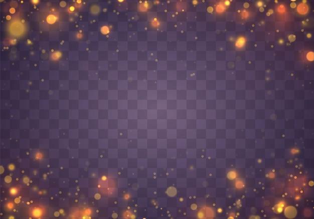 Weihnachtsfestlicher purpurroter und goldener leuchtender hintergrund. Premium Vektoren