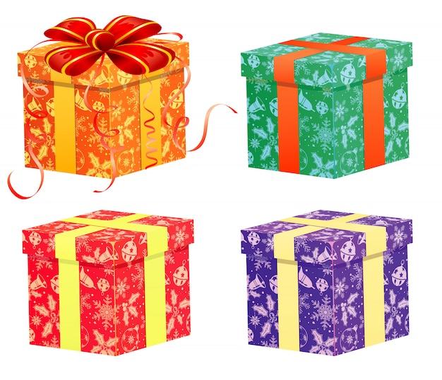 Weihnachtsgeschenk Premium Vektoren