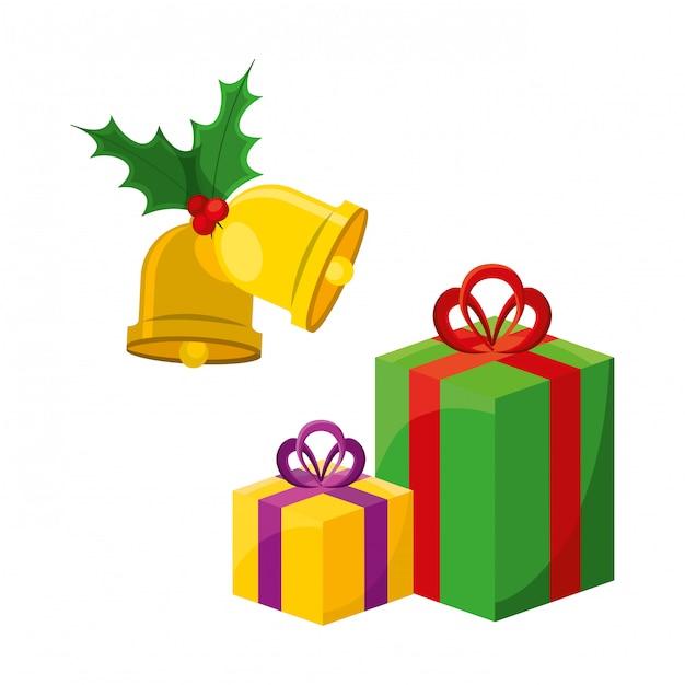 Weihnachtsgeschenke design Premium Vektoren