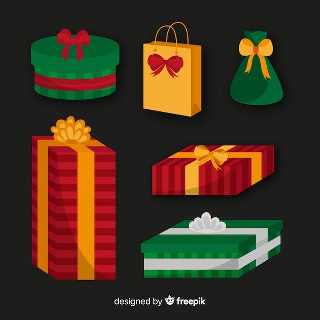 Weihnachtsgeschenke sammlung Kostenlosen Vektoren