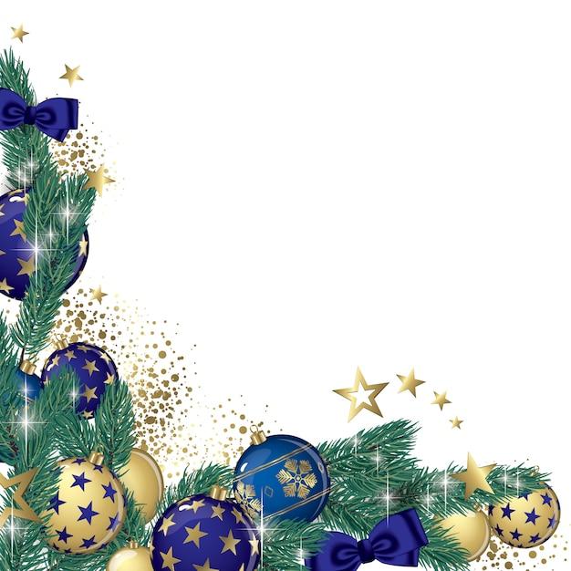 Weihnachtsgirlande hintergrund Premium Vektoren