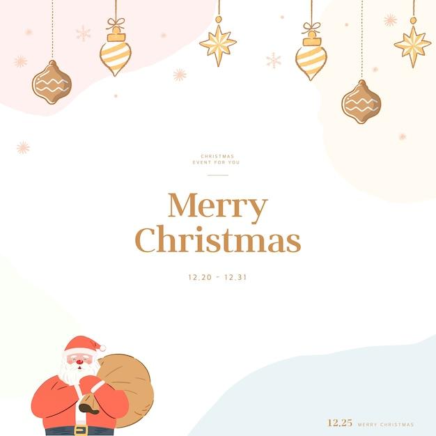 Weihnachtsgrußkarte mit emotionaler gefühlsillustration Premium Vektoren