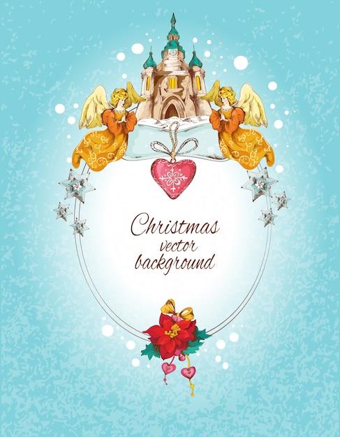 Weihnachtshintergrund gefärbt Premium Vektoren