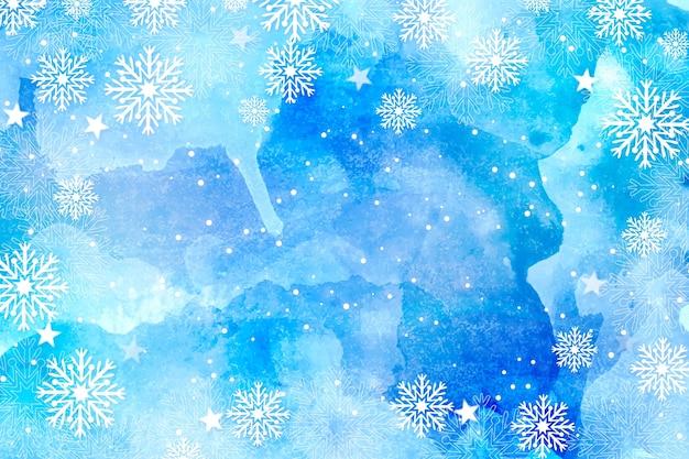 Weihnachtshintergrund im aquarell Kostenlosen Vektoren