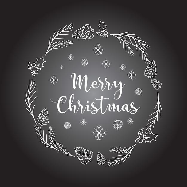 Weihnachtshintergrund mit gekritzelikonen. Kostenlosen Vektoren