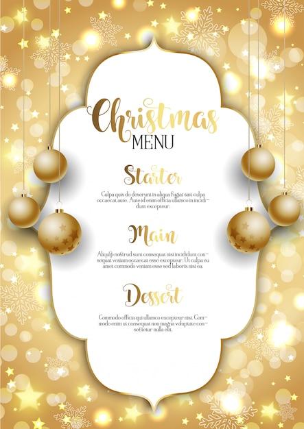 Weihnachtshintergrund mit goldenem hängendem flitter Premium Vektoren