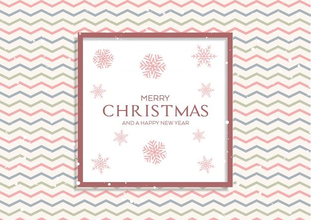 Weihnachtshintergrund mit retro- muster und schneeflocken Kostenlosen Vektoren