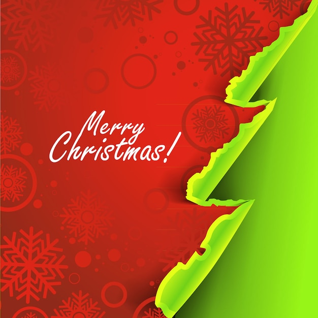 Weihnachtshintergrund mit zerrissenem papierkonzept Premium Vektoren