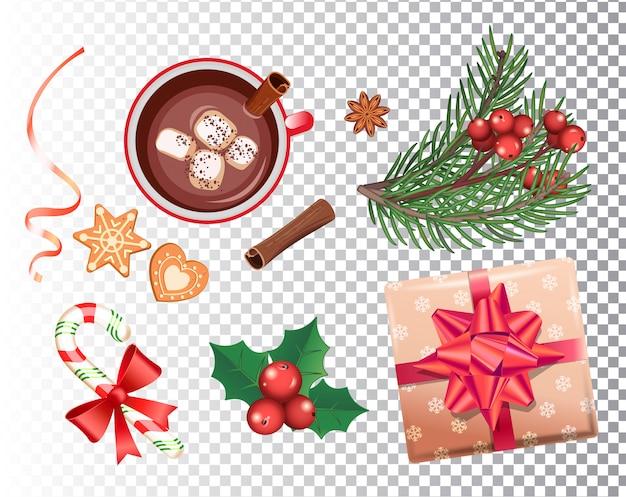 Weihnachtsikonen eingestellt Premium Vektoren