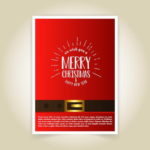 Weihnachtskarte design Kostenlosen Vektoren
