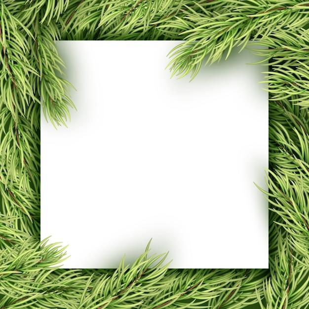 Weihnachtskarte mit copyspace. Premium Vektoren