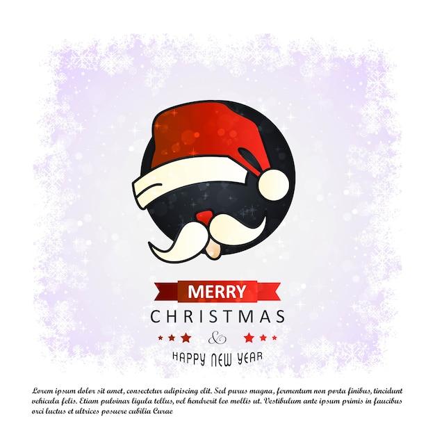 Weihnachtskarte mit eleganten design vektor Kostenlosen Vektoren
