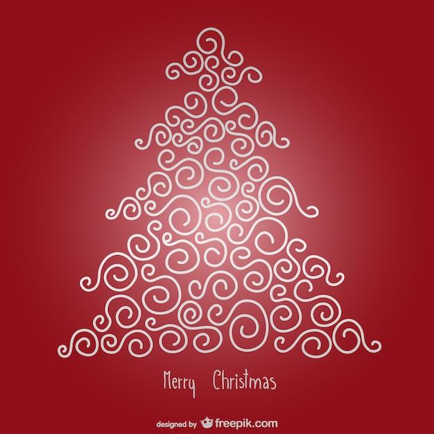 Weihnachtskarte mit minimalistischen baum download der for Was ist ein minimalist