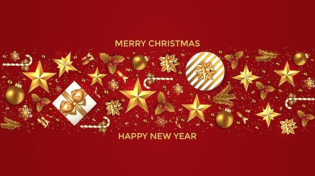 Weihnachtskarte urlaub Premium Vektoren