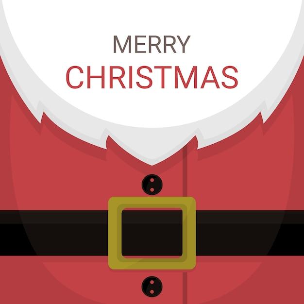 Weihnachtskarte von santa claus kostüm Premium Vektoren