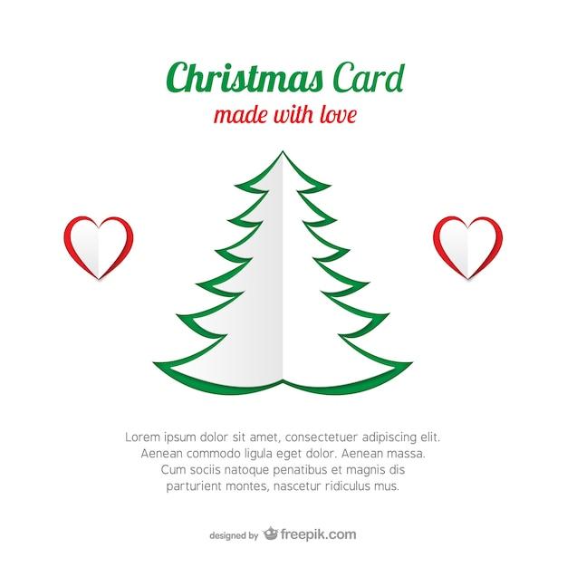 Weihnachtskarte Vorlage Mit Baum Download Der Kostenlosen Vektor