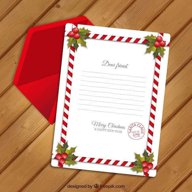 Weihnachtskarte vorlage mit dekorativen rand und roten umschlag download der kostenlosen vektor - Vorlage weihnachtskarte ...