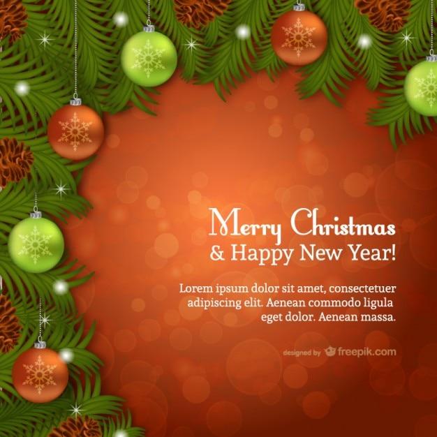 Weihnachtskarte Vorlage Mit Funken Download Der Kostenlosen Vektor