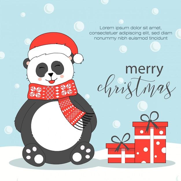 Weihnachtskarte Premium Vektoren