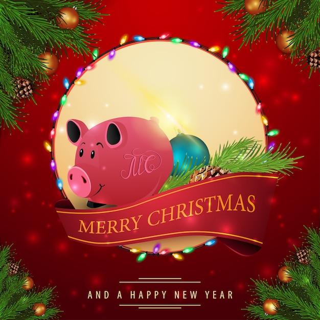 Weihnachtskarten Exklusiv.Weihnachtskarten Der Roten Karten Mit Weihnachtsschwein Download