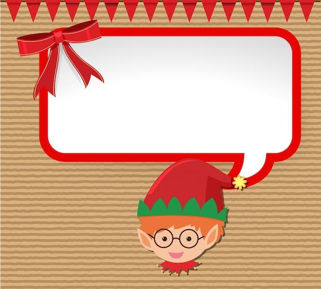 Weihnachtskarten Clipart.Weihnachtskarten Design Mit Kleinen Elfen Download Der Premium Vektor