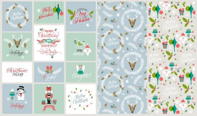 Weihnachtskarten sammlung download der kostenlosen vektor for Weihnachtskarten kostenlos gratis