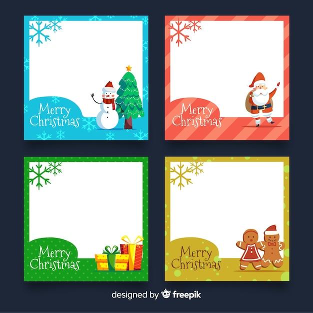 Weihnachtskarten-sammlung Kostenlosen Vektoren