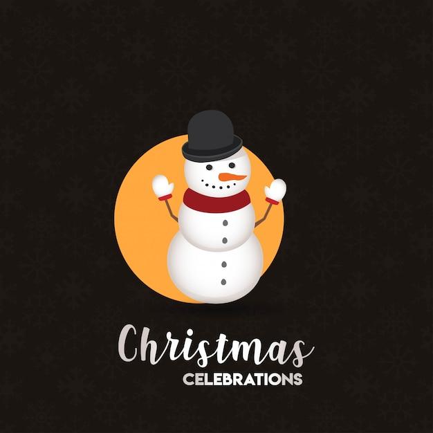 Weihnachtskartendesign mit elegantem design und dunklem hintergrund Kostenlosen Vektoren